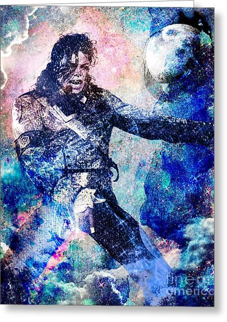 Michael Jackson Greeting Cards - Michael Jackson Original Painting  Greeting Card by Ryan RockChromatic
