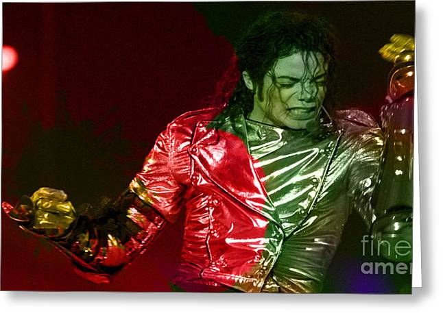 Michael Greeting Cards - Michael Jackson Painting Greeting Card by Marvin Blaine