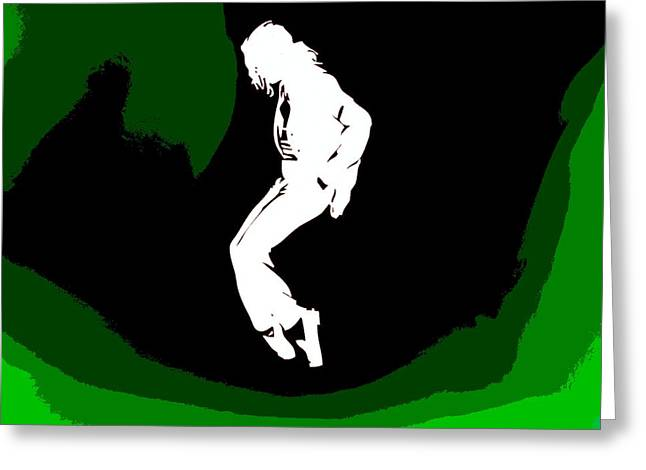 Billie Jean Greeting Cards - Michael Jackson Poster Greeting Card by Dan Sproul