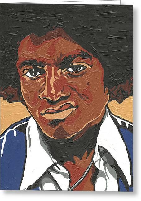 Mj Paintings Greeting Cards - Michael Jackson Greeting Card by Rachel Natalie Rawlins