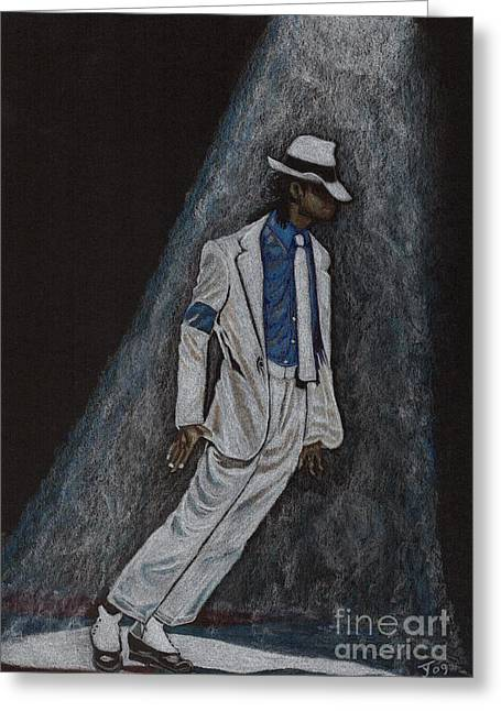 Smooth Criminal Greeting Cards - Michael Jackson Smooth Criminal Greeting Card by Yvonne Johnstone