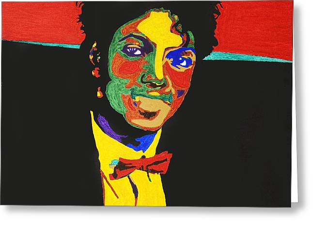 Michael Jackson Greeting Card by Stormm Bradshaw