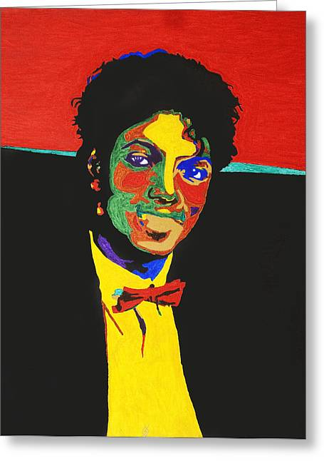 Off The Wall Greeting Cards - Michael Jackson Greeting Card by Stormm Bradshaw