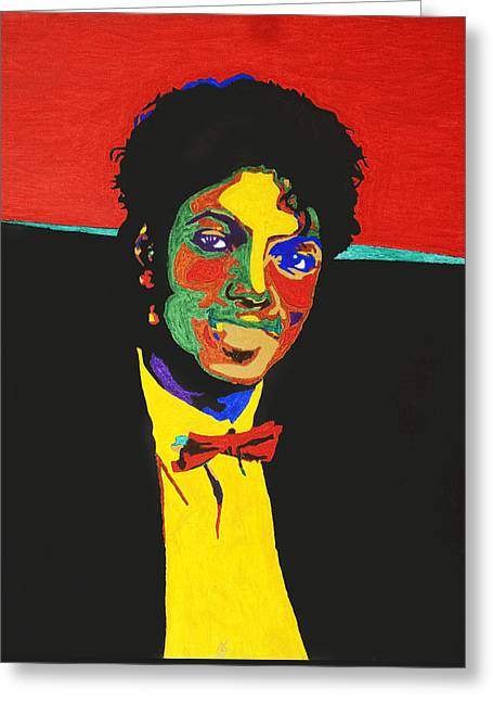 Mj Greeting Cards - Michael Jackson Greeting Card by Stormm Bradshaw