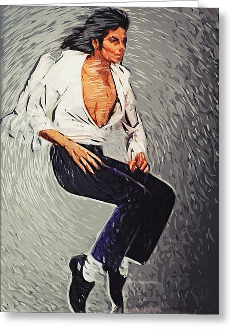 Beat It Greeting Cards - Michael Jackson Greeting Card by Taylan Soyturk