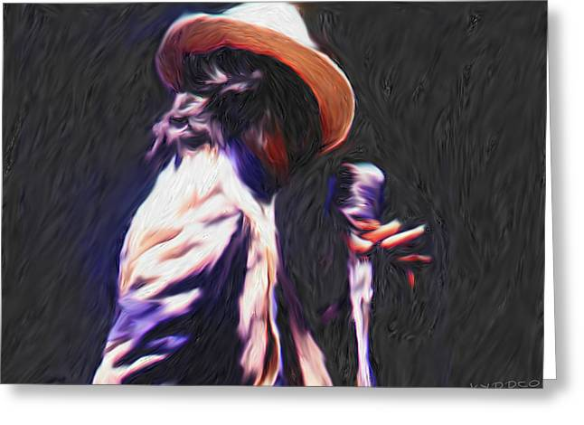 Smooth Criminal Greeting Cards - Michael Jackson Greeting Card by Tyler Watts KyddCo