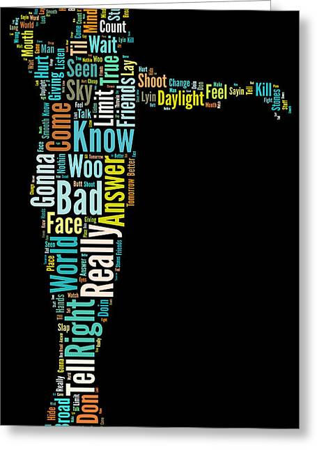 Michael Jackson Typography Poster Bad Greeting Card by Florian Rodarte