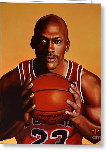 Charlotte Greeting Cards - Michael Jordan 2 Greeting Card by Paul Meijering