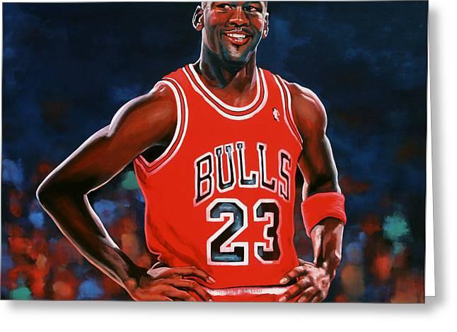 Michael Jordan Greeting Card by Paul Meijering