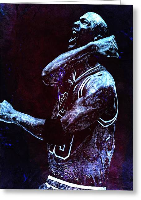Mj Greeting Cards - Michael Jordan We Did it Again Greeting Card by Brian Reaves