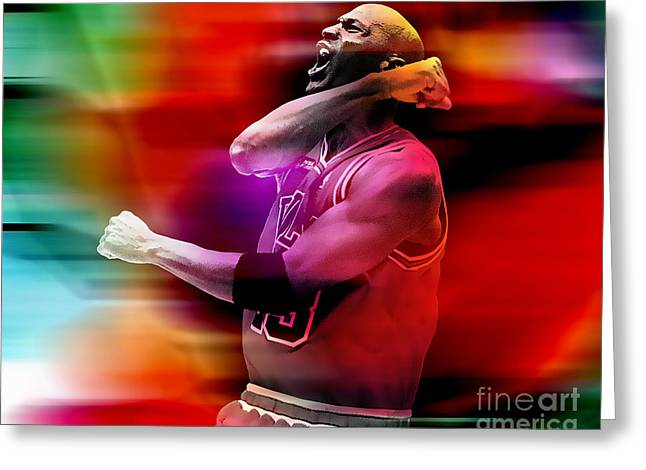 Michael Jordan Prints Greeting Cards - Michael Jordon Greeting Card by Marvin Blaine