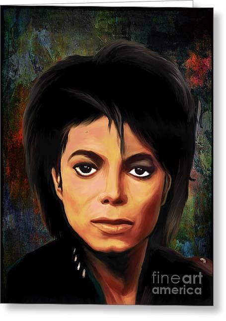 Thriller Digital Art Greeting Cards - Michael Joseph Jackson  Greeting Card by Andrzej Szczerski