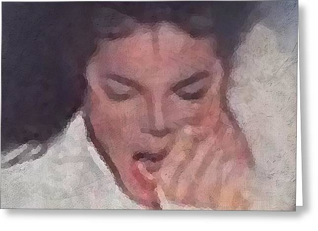 Super Stars Greeting Cards - Michael Greeting Card by Kume Bryant