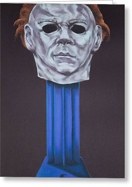 Andrew Michael Greeting Cards - Michael Myers  Greeting Card by Brent Andrew Doty