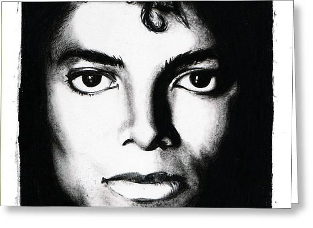 Michael Portrait Greeting Card by Elizabeth Moug