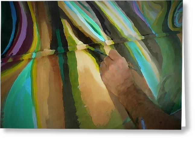 Michael Richard Rosenblatt Paints I Greeting Card by Carolina Liechtenstein