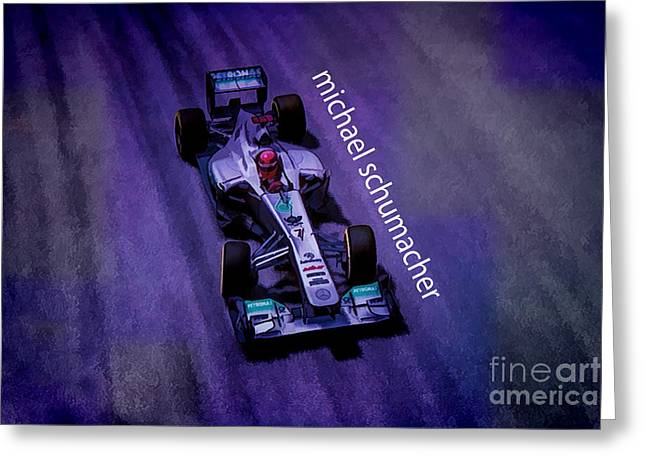 7 Greeting Cards - Michael Schumacher Greeting Card by Marvin Spates
