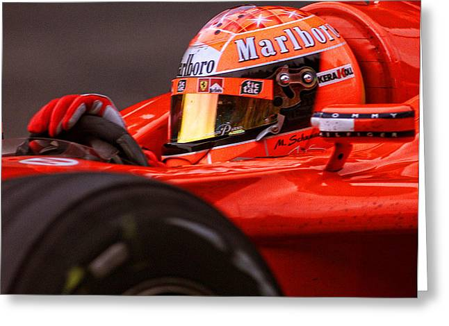 Michael Schumacher  Greeting Card by Srdjan Petrovic
