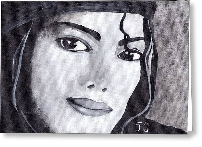 Young Michael Jackson Greeting Cards - Michael Greeting Card by Terri Prall