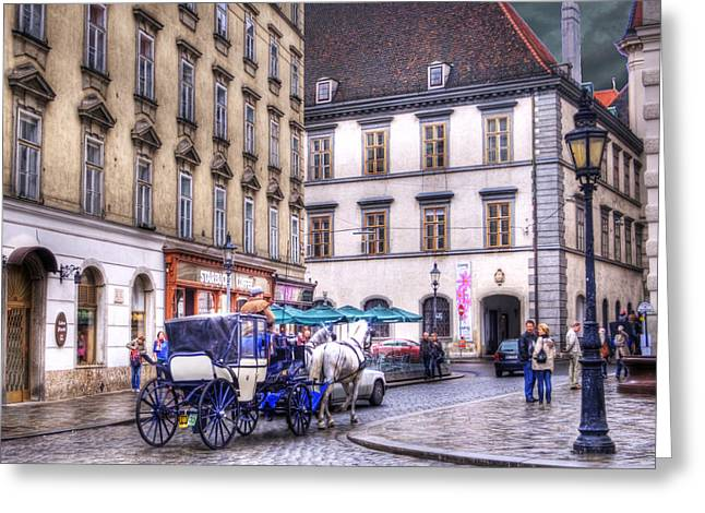 Michaelerplatz. Vienna Greeting Card by Juli Scalzi
