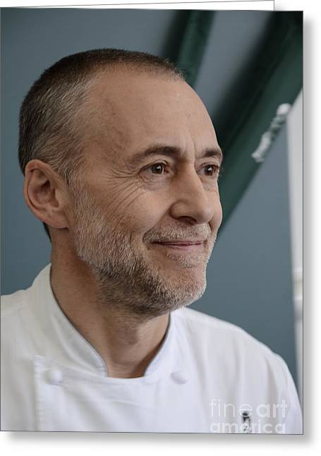 Michelin Greeting Cards - Michel Roux Jr. Greeting Card by CandyAppleRed Images