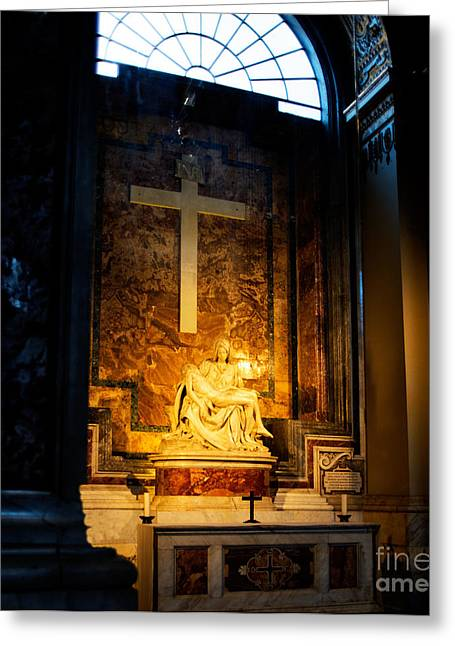 Michelangelo Greeting Cards - Michelangelo Pieta Greeting Card by Phill Petrovic