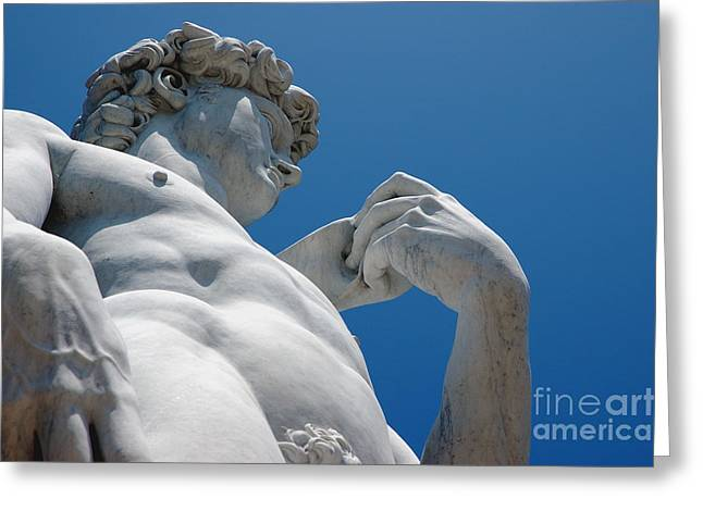 Michelangelo Greeting Cards - Michelangelos David 2 Greeting Card by Micah May