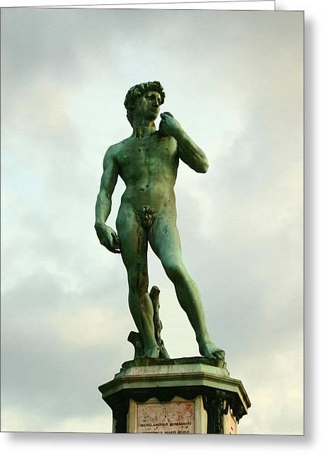 Michelangelo's David 2 Greeting Card by Ellen Henneke