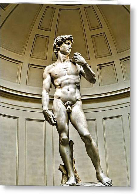 Michelangelos David Greeting Cards - Michelangelos DAVID  Greeting Card by Jon Berghoff