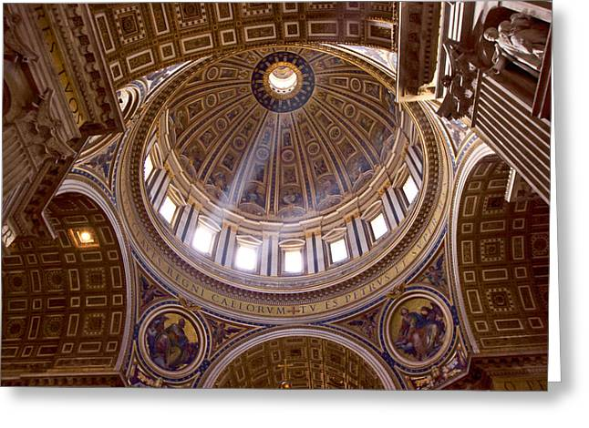 Michelangelo Greeting Cards - Michelangelos Dome Greeting Card by Walt  Baker