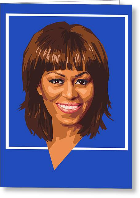 Michelle Obama Digital Art Greeting Cards - Michelle Greeting Card by Douglas Simonson
