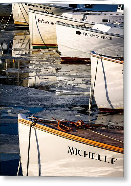 Lobster Fishermen Greeting Cards - Michelle Greeting Card by Jeff Sinon