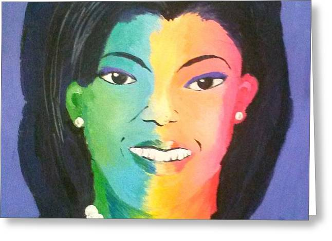 Michelle Obama color effect Greeting Card by Kendya Battle