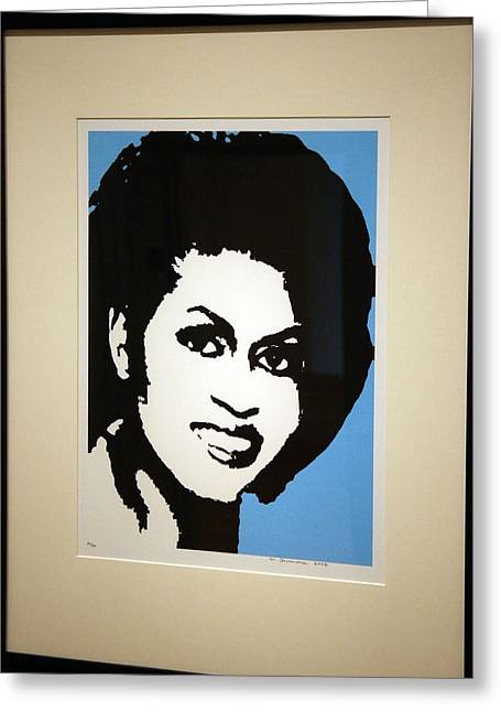 Michelle Obama Portrait Greeting Cards - Michelle Obama Greeting Card by Cora Wandel