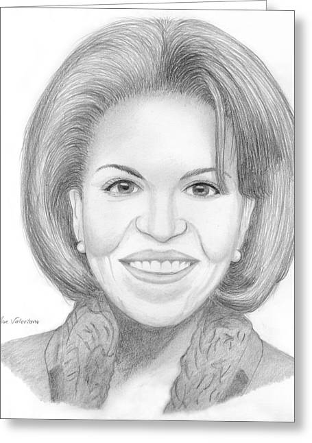 Michelle Obama Drawings Greeting Cards - Michelle Obama Greeting Card by Jose Valeriano