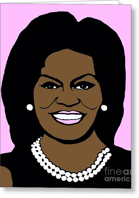 Recently Sold -  - Michelle Obama Photographs Greeting Cards - Michelle Obama Greeting Card by Jost Houk