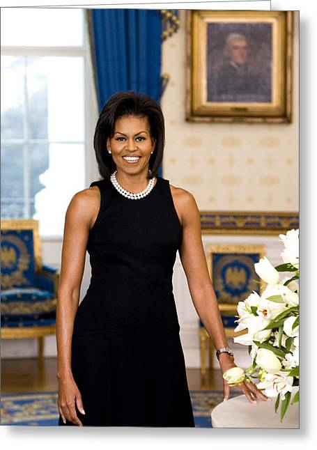 Mullen Greeting Cards - Michelle Obama Greeting Card by Official White House Photo