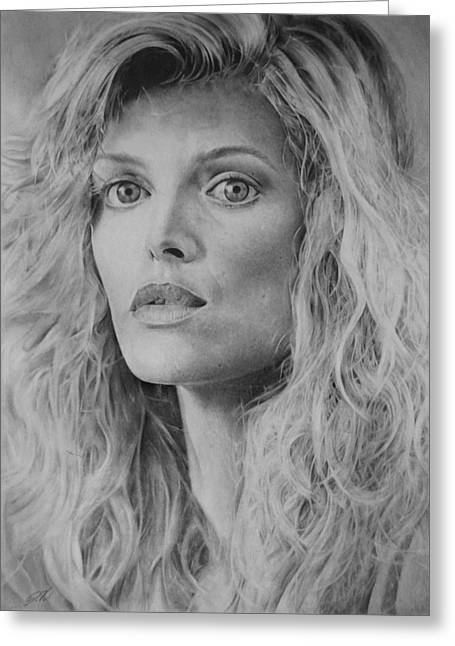 Michelle Drawings Greeting Cards - Michelle Pfeiffer Greeting Card by Damir Kulusic