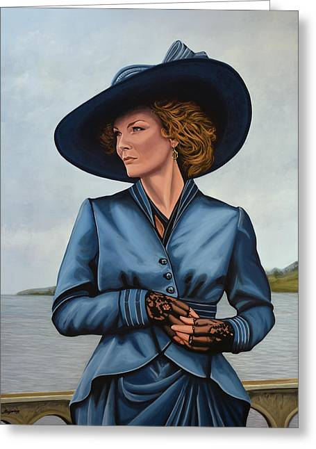 Innocence Paintings Greeting Cards - Michelle Pfeiffer Greeting Card by Paul  Meijering