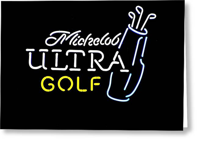 Photogrpah Greeting Cards - Michelob Ultra Golf Greeting Card by Steven Parker