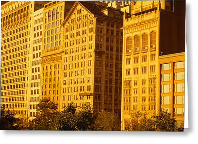 Michigan Ave Greeting Cards - Michigan Avenue Architecture, Chicago Greeting Card by Panoramic Images