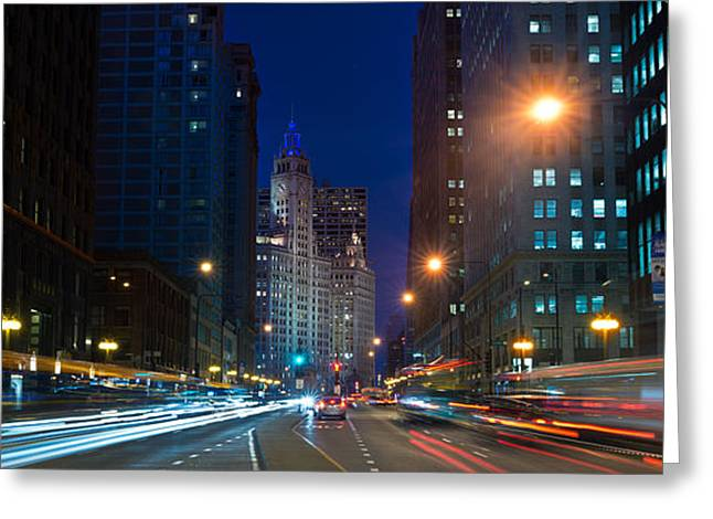 Michigan Avenue Chicago Greeting Card by Steve Gadomski