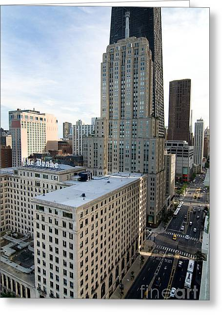 Magnificent Mile Digital Art Greeting Cards - Michigan Avenue Chicagos Magnificent Mile Greeting Card by Glenn Morimoto