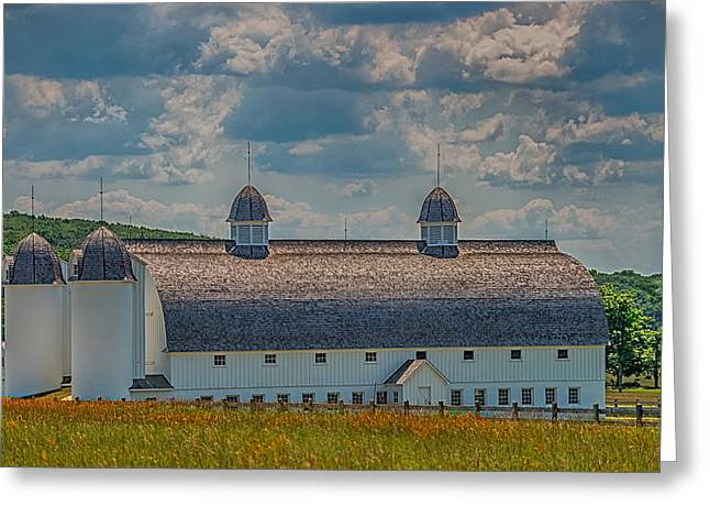 Old Barns Greeting Cards - Michigan Barn Greeting Card by Paul Freidlund