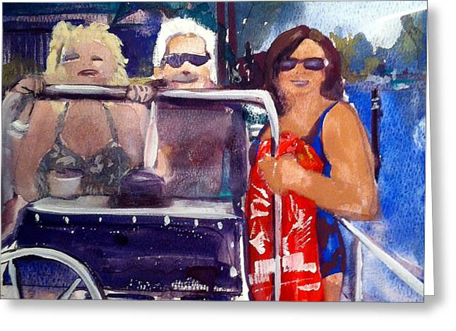 Michigan Boaters Greeting Card by Sandra Stone