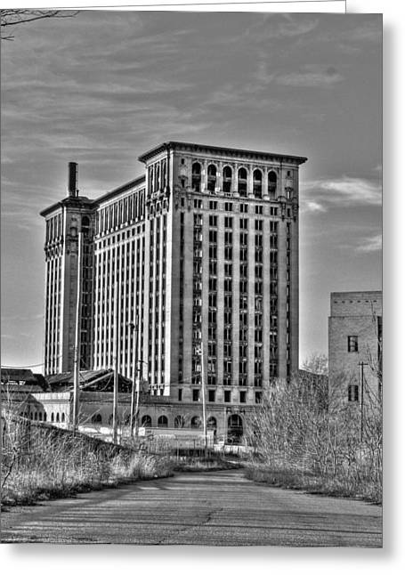 Detroit Pistons Digital Greeting Cards - Michigan Central Station Greeting Card by Nicholas  Grunas