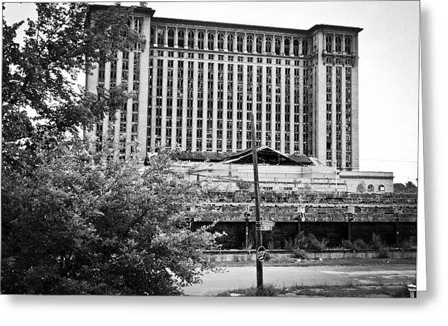 Corktown Greeting Cards - Michigan Central Station Greeting Card by Priya Ghose