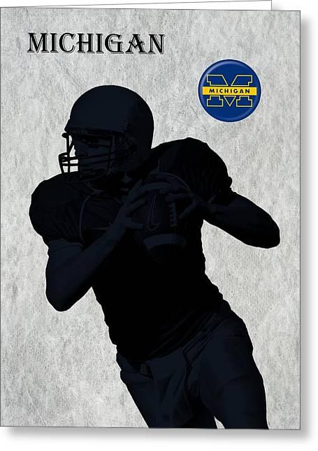 Indiana Art Greeting Cards - Michigan Football  Greeting Card by David Dehner