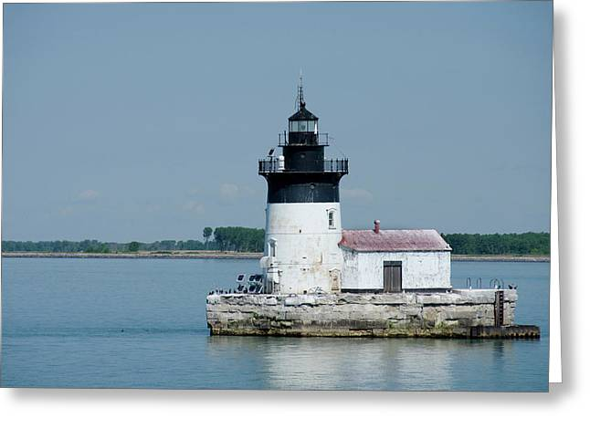 Michigan, Lake Erie, Detroit River Greeting Card by Cindy Miller Hopkins