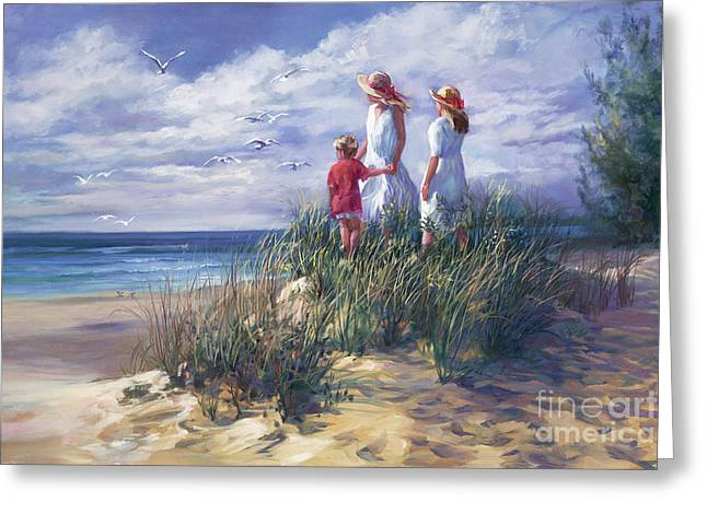 Michigan Shore Memories  Greeting Card by Laurie Hein